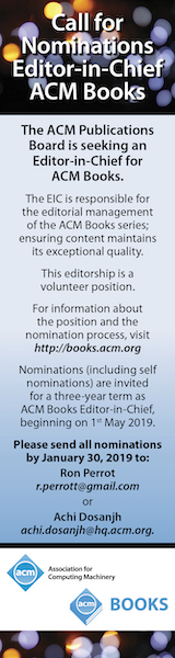 ACM Books Editor in Chief Search