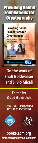 Providing Sound Foundations for Cryptography: On the Work of Shafi Goldwasser and Silvio Micali