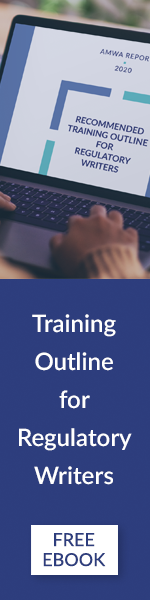 Recommended Training Outline for Regulatory Writers