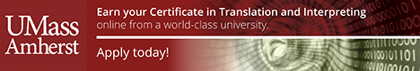 University of Massachusetts Certificate in Translation and Interpreting