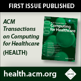 2020 ACM Transactions on Computing for Healthcare (HEALTH)