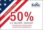 ATA offers U.S. military 50% off on a new ATA membership