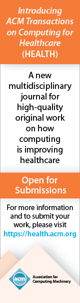 ACM Transactions on Computing for Healthcare
