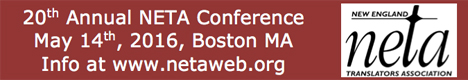 New England Translators Association 20th Annual Conference