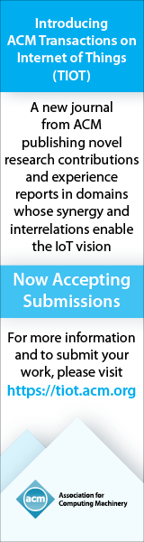 ACM Transactions on Internet of Things (TIOT)