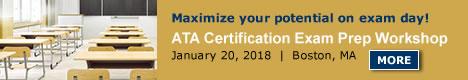 ATA Certification Exam Prep Workshop