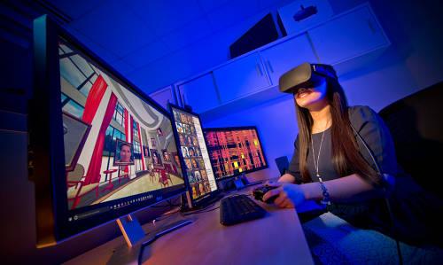 Using virtual reality to study.