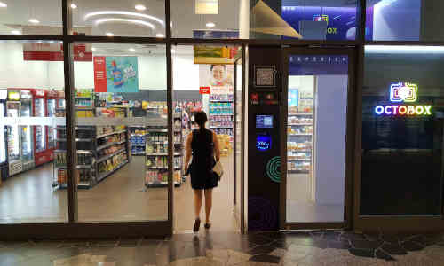 Retail startup Octobox opened its first unmanned convenience store at the National University of Singapore in August.