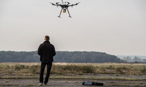 A drone demonstration
