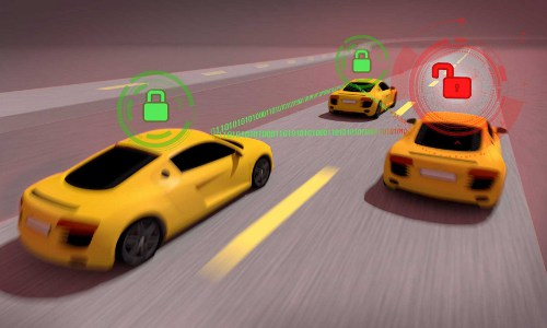 self-driving cars, illustration