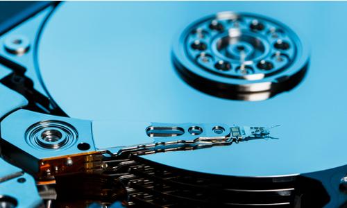 A hard disk write head.