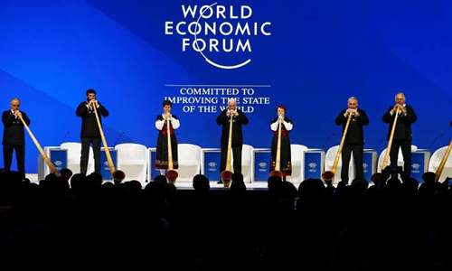 Opening ceremonies at the World Economic Forum.