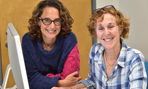 Julie Flapan (left) the executive director of ACCESS and Jane Margolis (right) the founder of ACCESS