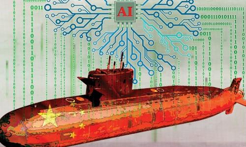 Chinese submarine, illustration