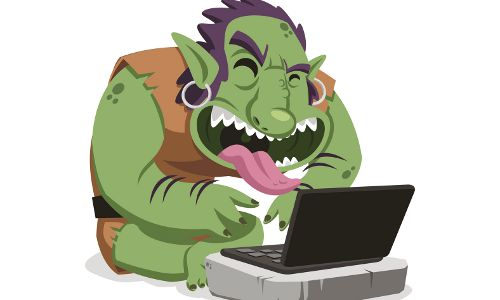 Internet troll, illustration