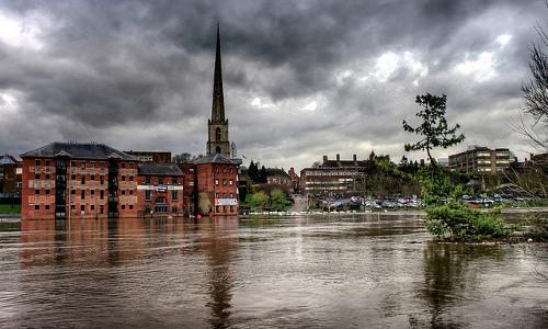 Flooded River Severn, Worcester, U.K., November 2012