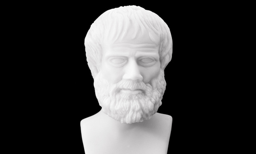 A bust of aristotle