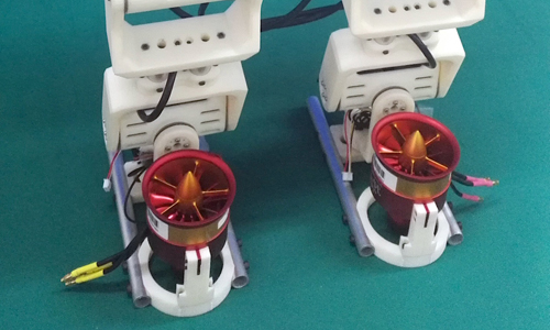 Ducted fans on the robot Jet-HR1's feet