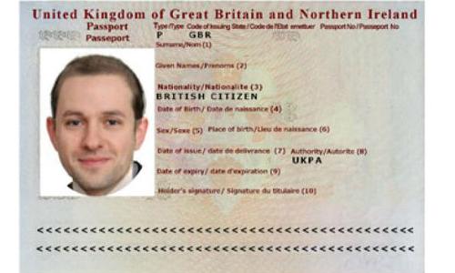 Image of a man's passport