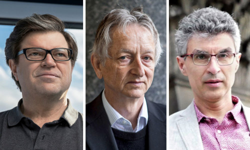 ACM A.M. Turing Award recipients Yann LeCun, Geoffrey Hinton, and Yoshua Bengio
