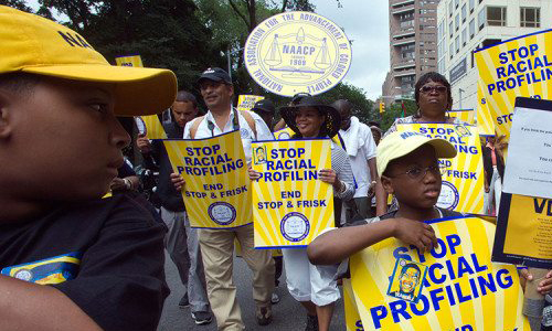 """An """"End stop and frisk"""" protest march"""