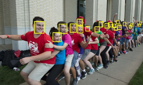 automated face detection, illustrative photo