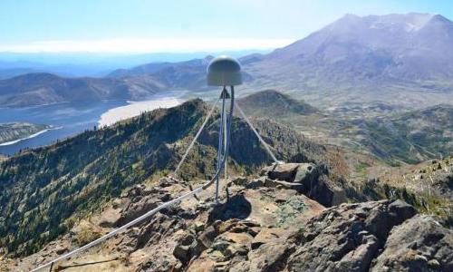 A GPS station near Mount St. Helens