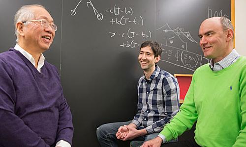Photo of three Harvard researchers