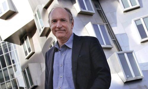 Photo of Sir Tim Berners-Lee, winner of 2016  ACM A.M  Turing Award