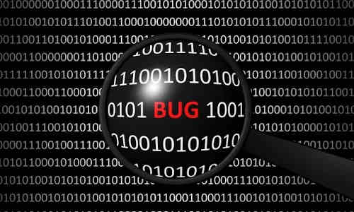 Finding bugs in code.