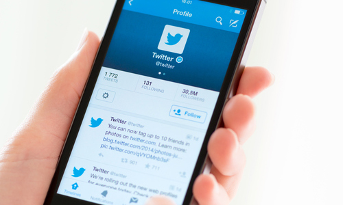 Twitter app open on a smartphone