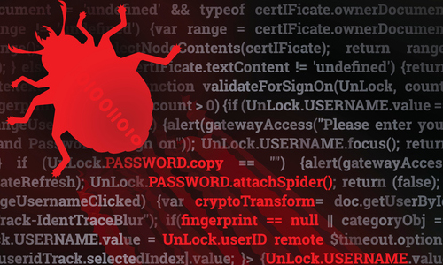 A virus spreading red code
