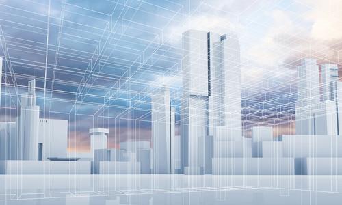 3D model of a city