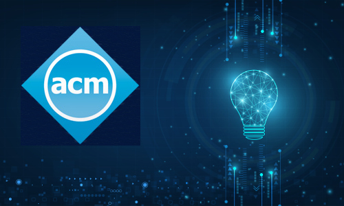 ACM logo with lightbulb, illustration