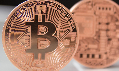 The front of a Bitcoin