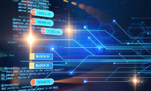 Image of an internet blockchain