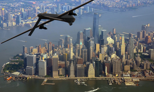 drone over NYC