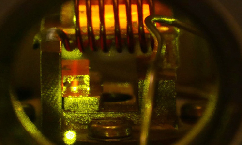 The quantum repeater: two crystals in operation