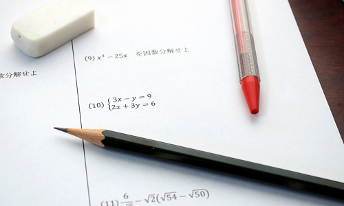 Piece of paper with mathematic equations