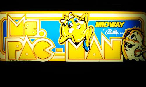 Ms. Pacman arcade logo