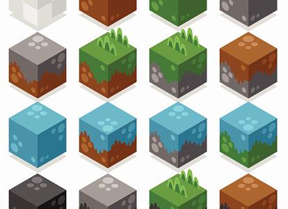 3D landscape cubes from the minecraft cube