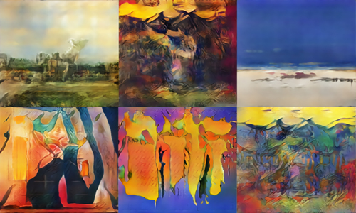 Pieces of art created using AI