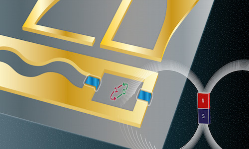 An artificial atom made from superconducting strips.
