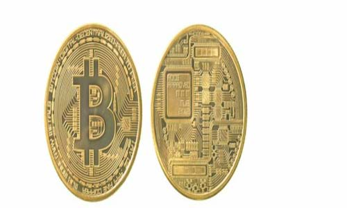 Bitcoins front and back.
