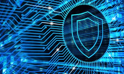cyber shield, illustration