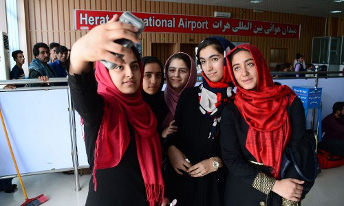 Afghan girls' robotics team