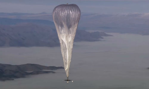 A photo of the Loon balloon.