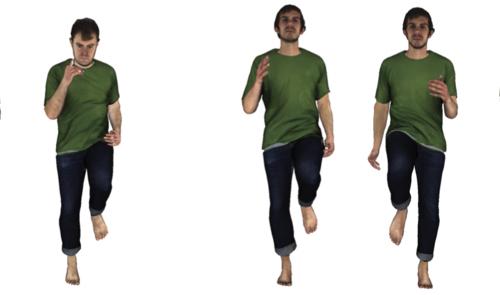 4d image of man running