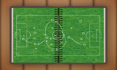 Drawing of soccer field