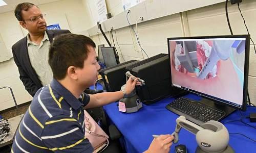 VR surgery demonstration